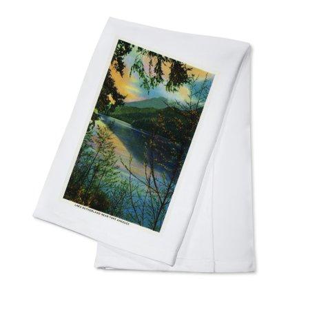 Lake Sutherland Near Port Angeles  Wa  100  Cotton Kitchen Towel