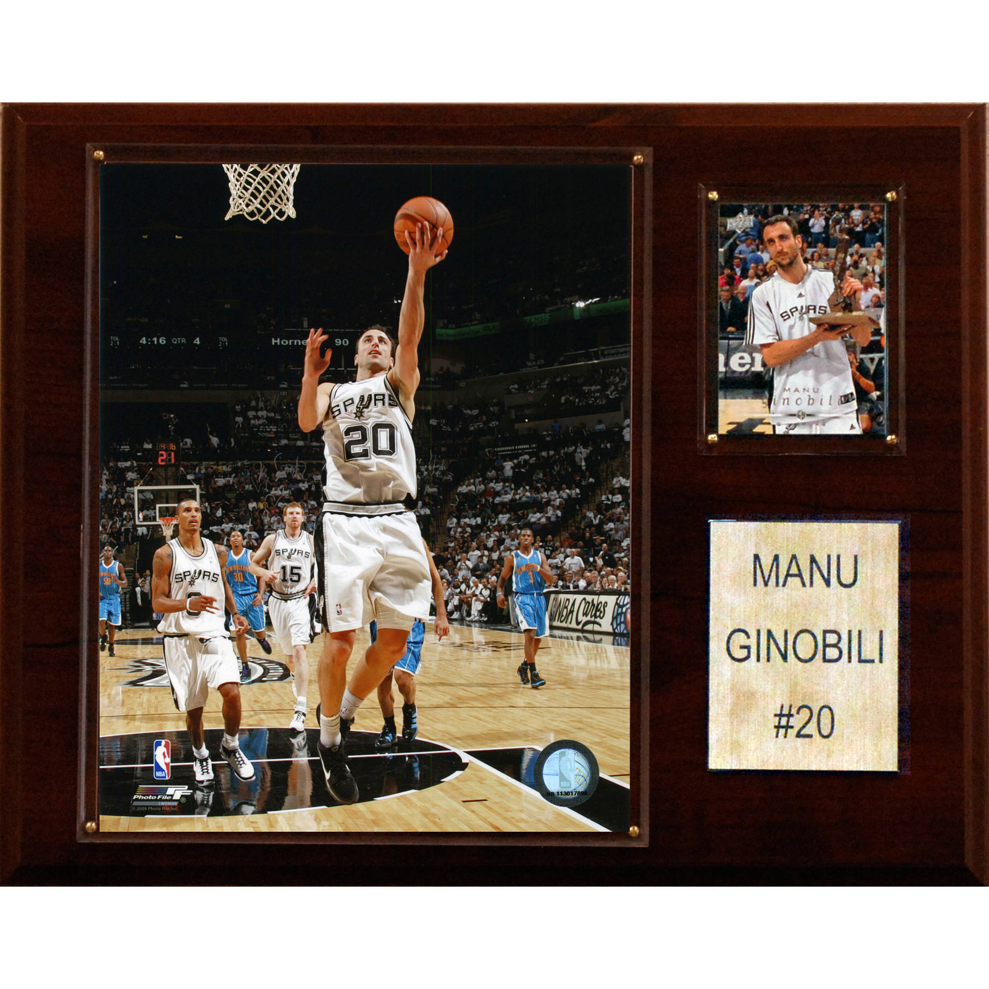 C&I Collectables NBA 12x15 Manu Ginobili San Antonio Spurs Player Plaque