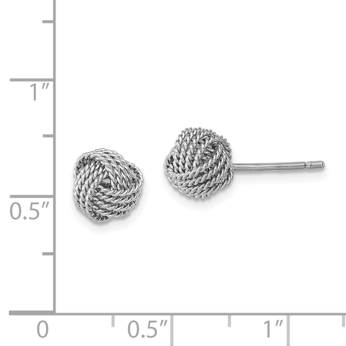 Fashion Womens 925 Sterling Silver Plated Ball Knot Ear Stud Earring Jewelry