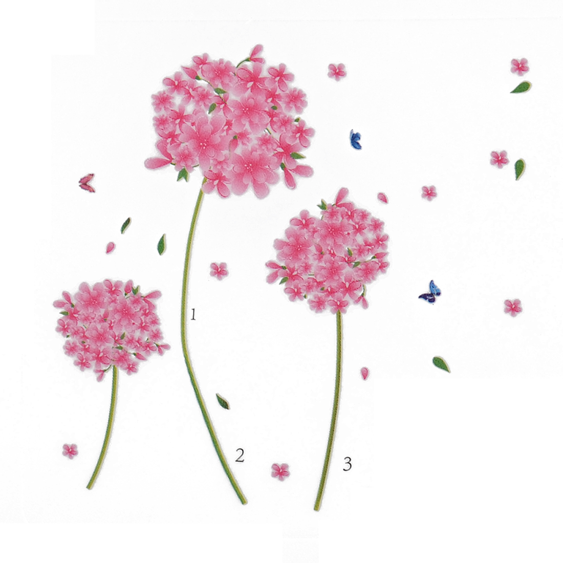 Flower Pattern Adhesive Wall Background Sticker Decal Wallpaper 70 x 50cm