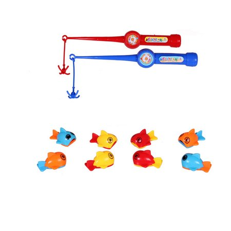 Baby Bath Time Fun Floating Fish Mini Fishing Set Bathtub Toys with Fishing Rods