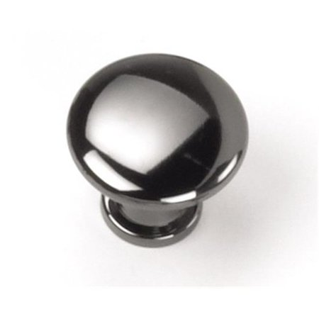 Laurey 26312 0.88 in. Button Knob - Black Nickel Laurey Nickel Knob