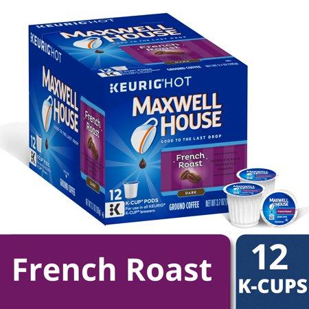 Maxwell House Dark French Roast Coffee K Cup Pods, Caffeinated, 12 ct - 3.7 oz - Maxwell House French Coffee