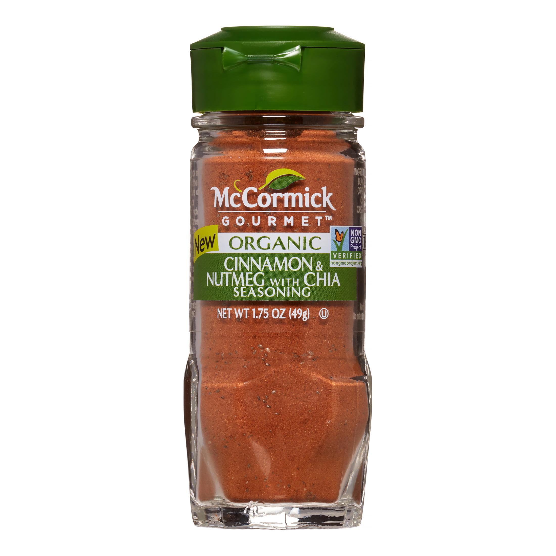 McCormick Gourmet Organic Cinnamon & Nutmeg with Chia, 1.75 oz. Shaker by Mccormick