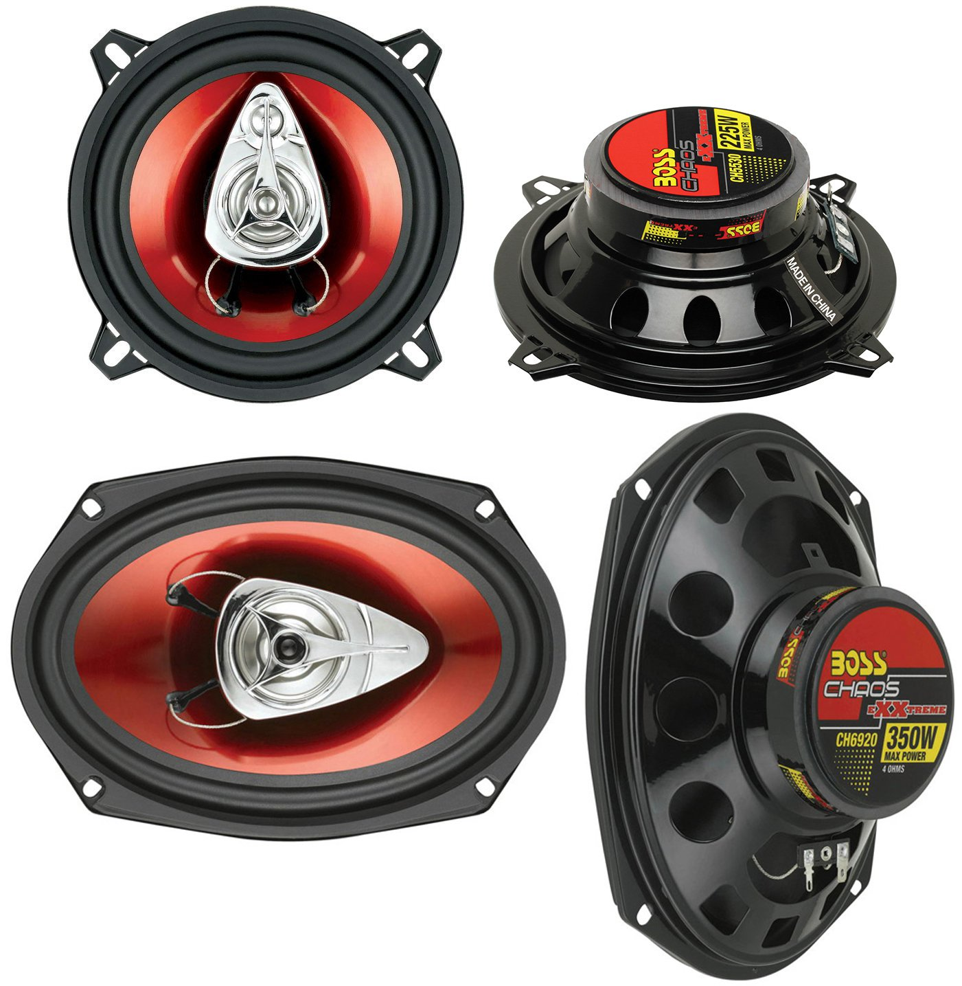 "2) BOSS CH5530 5.25"" 3-Way 225W + Boss CH6920 6x9"" 2-Way 350W Car Audio Speakers"
