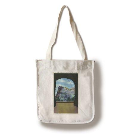 Black Hills  South Dakota   Iron Mountain Road Tunnel View Of Rushmore Memorial  100  Cotton Tote Bag   Reusable