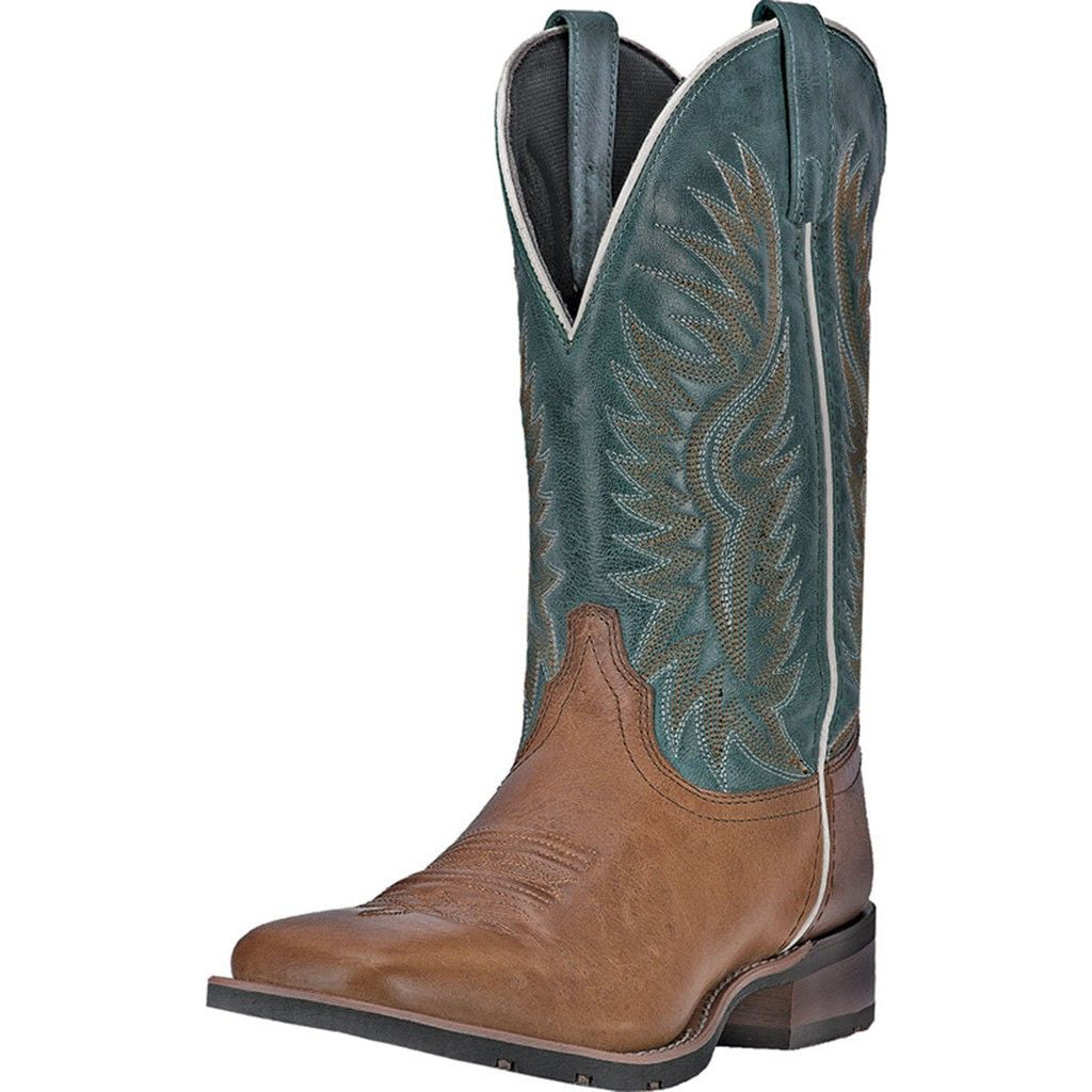 "Laredo Western Boots Mens 11"" Jhase Square Toe Cowboy Brown 7818 by Laredo"