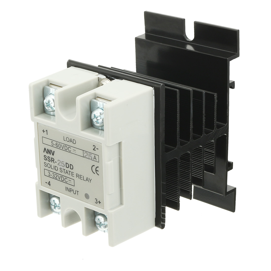 Ssr 25dd 25a Dc3 32v To Dc5 60v Solid State Relay Heat Sink Used In Circuit Breaker Thermal Compound