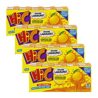 (4 Pack) Hi-C Juice, Orange Lavaburst, 6 Fl Oz, 10 Count