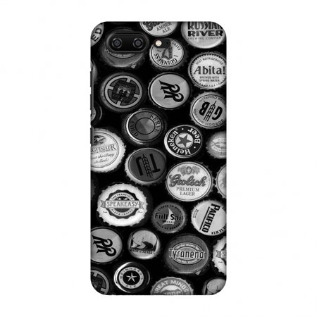 Screen Monochrome - Gionee S10 Case, Premium Handcrafted Designer Hard Shell Snap On Case Printed Back Cover with Screen Cleaning Kit for Gionee S10, Slim, Protective - Beer Caps Monochrome