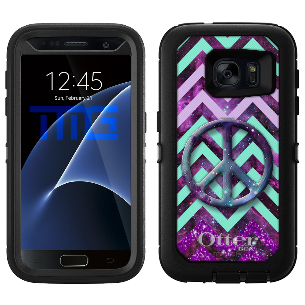 OtterBox Defender Samsung Galaxy S7 Case - Peace on Chevr...