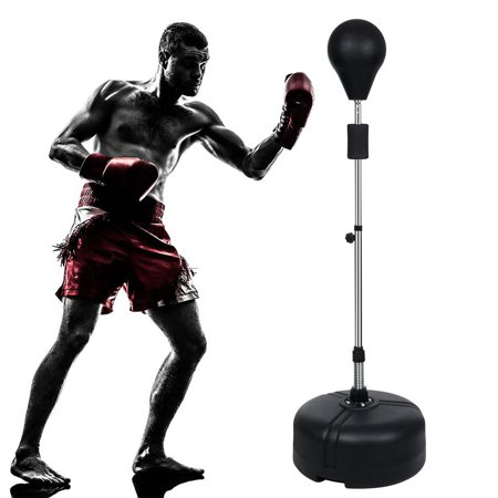 61'' Heavy Duty Punching Bag Gym Adjustable Height Workout Training Bag