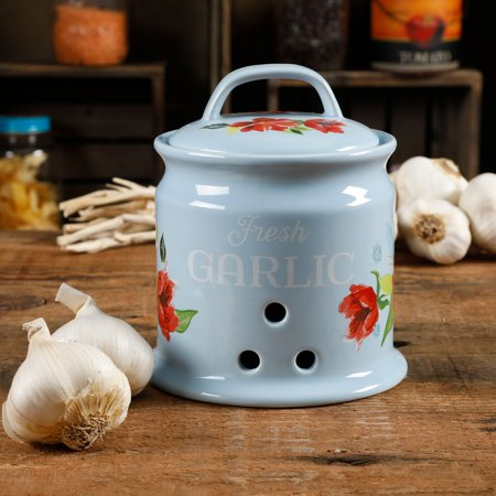 The Pioneer Woman Spring Bouquet 5.7-Inch Garlic Keeper