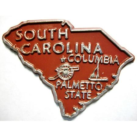 South Carolina The Palmetto State Souvenir Fridge Magnet