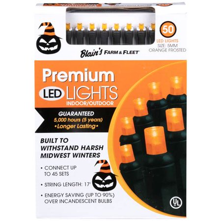 Marsh Farm Halloween (2 Pack Blain's Farm & Fleet 50 Halloween Orange Frosted & Purple & Lime Frosted LED)