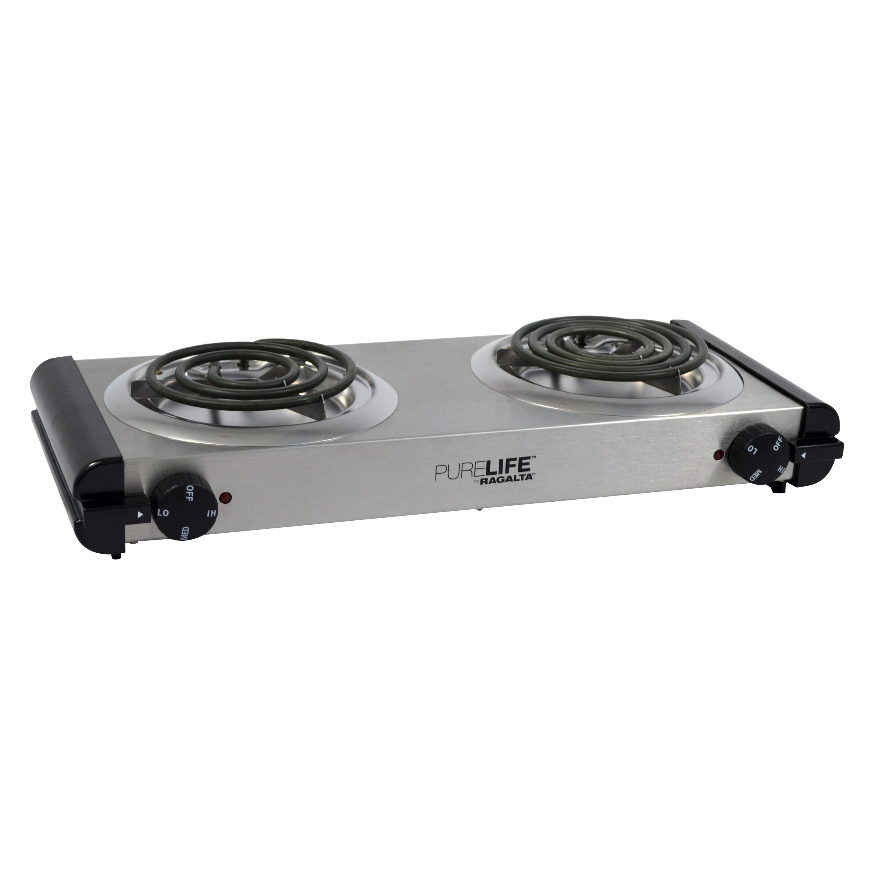 Purelife Portable Electric Double Burner   2 X Burner   Stainless Steel  (rcb 20)