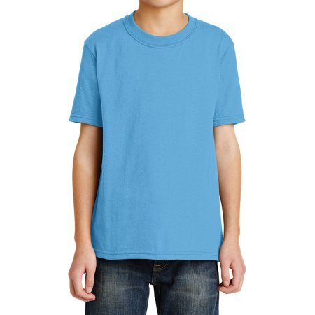 Mafoose Youth Core Blend Tee Aquatic Blue -
