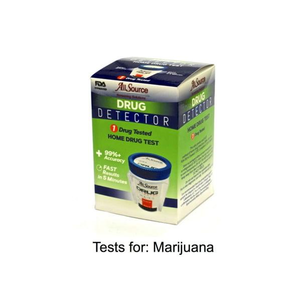 1 Pack Allsource Drug Detector Home Marijuana Drug Test Walmart Com Walmart Com