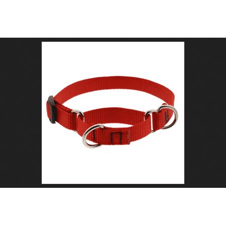 - Lupine Basics Red Nylon Dog Martingale Collar Neck 14-20