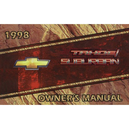 Bishko OEM Maintenance Owner's Manual Bound for Chevrolet Truck Suburban, Tahoe 1998
