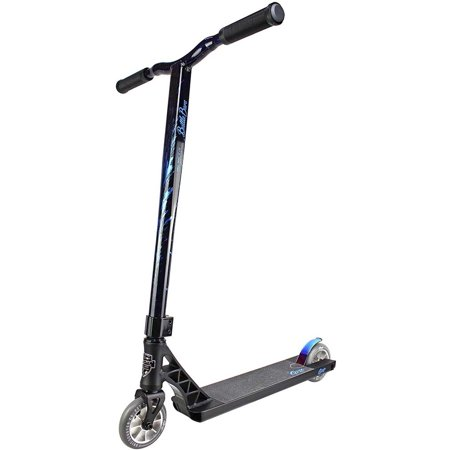 Grit Elite Complete Pro Scooter Intermediate/Expert Rider Satin Black/Blue Laser (Grit Scooter Pro)