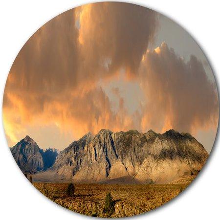 Design Art Sierra Nevada Mountain Photographic Print On Metal