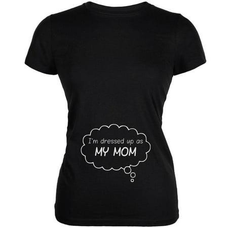 Halloween Dressed Up As Mommy Black Juniors Soft T-Shirt - Mummy Fingers Halloween
