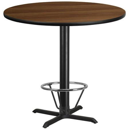 "Flash Furniture 42"" Round Laminate Top Pub Table in Mahogany - image 2 de 4"