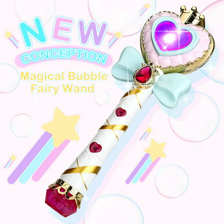 WisToyz Music Bubble Fairy Wand Stick Magic Toy, Light Up Bubble Wand Automatic Maker Machine Toy for Kids Adult Children, Premium Music Bubble Machine
