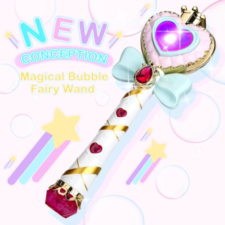 WisToyz Music Bubble Fairy Wand Stick Magic Toy, Light Up Bubble Wand Automatic Maker Machine Toy for Kids Adult Children, Premium Music Bubble Machine - Fog Bubble Machine