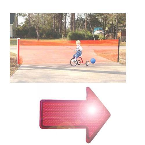 Kid Kusion 4725WREF Kid Safe 25 Foot Driveway Guard With Free LED Safety Reflect