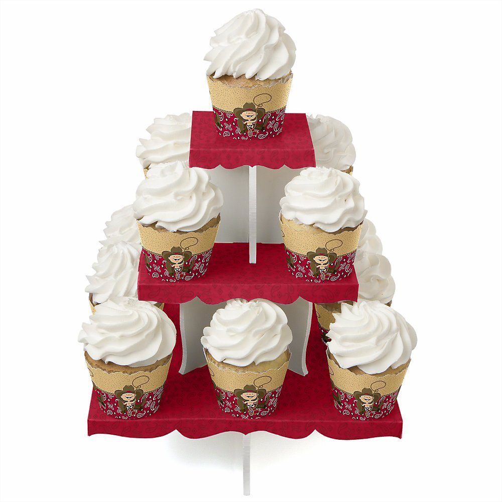 little cowboy western party cupcake stand amp 13 cupcake