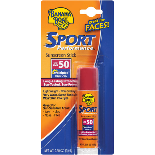 Banana Boat Sport Performance SPF 50 UVB Sunscreen Stick, .55 oz