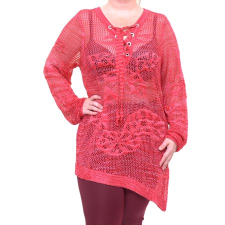 INC International Concepts Real Red Top Blouse Long Sleeve Size XXL NWT - Movaz