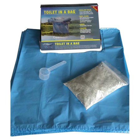 CLEANWASTE TOILET IN A BAG 15PK (Biodegradable Toilet Bags)