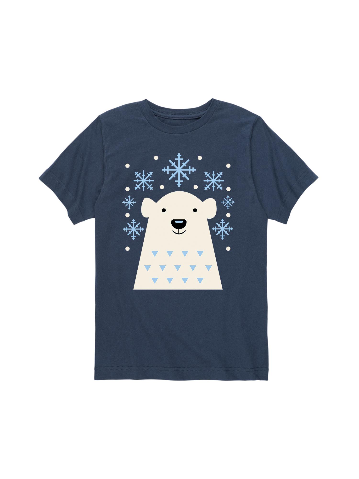 Scandinavian Polar Bear Bottom Hit  - Toddler Short Sleeve Tee