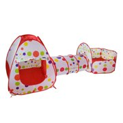 Kids Play Tent With Tunnel for Children,3-in-1 Playhut Hours of Indoor Outdoor Fun