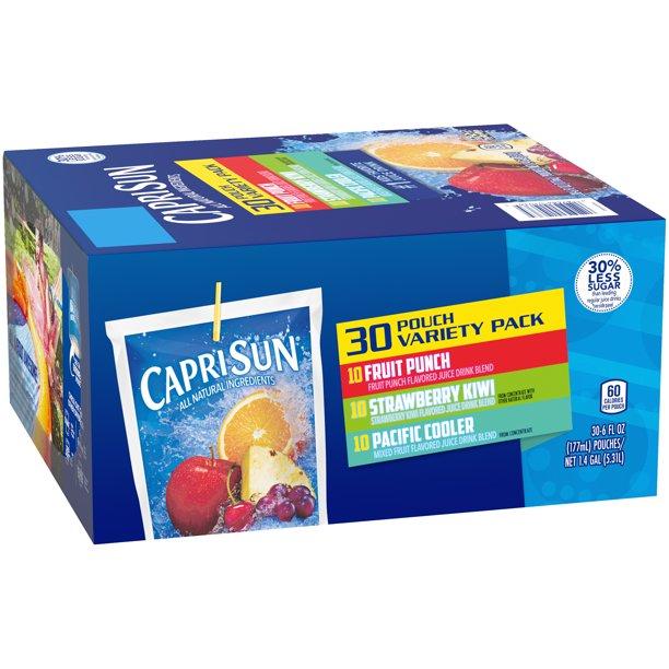 Capri Sun 100% Juice Variety Pack, 40 ct - 6 fl oz Pouches
