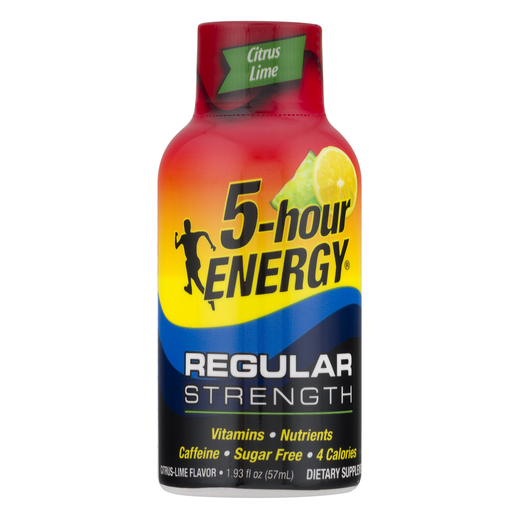 5-Hour Energy Dietary Supplement Regular Strength Citrus Lime, 1.93 FL OZ
