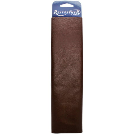 "Realeather Leather Trim Piece, 9"" x 3"", Premium Brown"