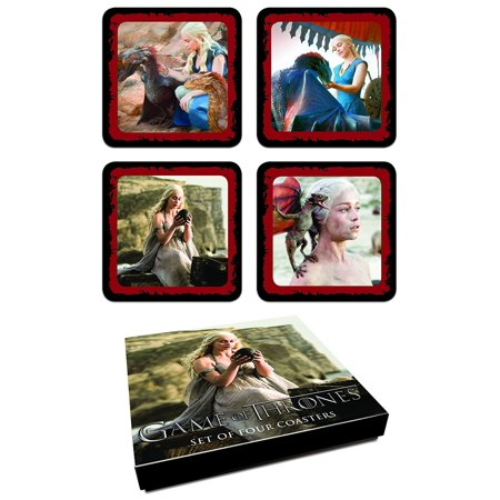 Game Of Thrones  Daenerys Targaryen Coaster Set  From The Hit Hbo Series By Dark Horse Deluxe
