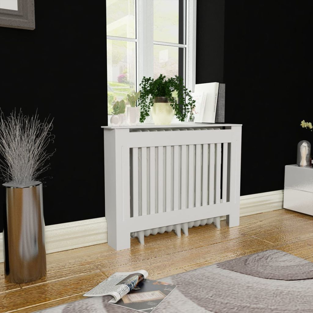 Radiator Covers White Mdf Living Room Heating Cabinet Additional Shelf Space Accessory Walmart Com Walmart Com