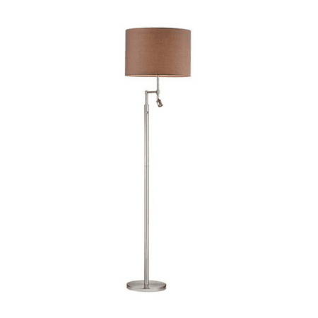 Floor Lamps 2 Light With Satin Nickel Finish Metal Material Medium Base Bulb Type 60 inch 300