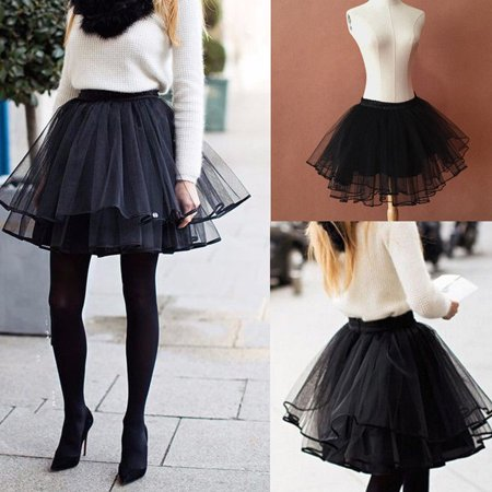 New Women Girl Ballet Tulle Pleated Tutu Skirt Wedding Party Prom Bouffant Dress Size S - Sparkle Skirts Promo Code