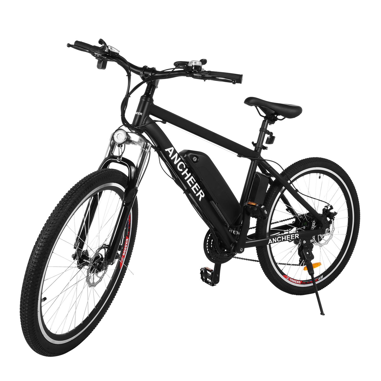 "ANCHEER Upgrade Fast 26""21 Speed 36V Electric Mountain Bicycle for Adults with Removable Lithium-ion Battery Integrated Mens Electric Bike, With LED Handlebar Display, LED Headlight[US STOCK]"