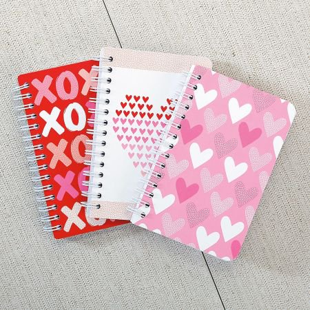 Mini Valentine's Notebooks - Set of 3 - Mini Notebooks