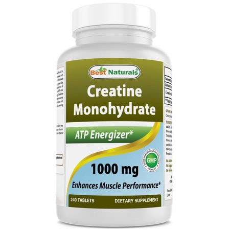 BEST NATURALS Creatine Monohydrate 1000 mg 240