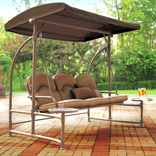 Patio Swing With Side Tables Table Design Ideas