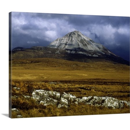 (Great BIG Canvas | The Irish Image Collection Premium Thick-Wrap Canvas entitled County Donegal, Mount Errigal, Ireland)