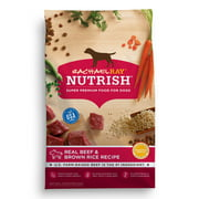 Rachael Ray Nutrish Natural Dry Dog Food, Real Beef and Brown Rice Recipe, 14 lbs